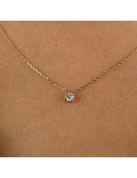 diamond-necklace,-solitaire-necklace by etsy