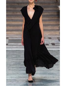 ruffled-silk-dress by victoria-beckham