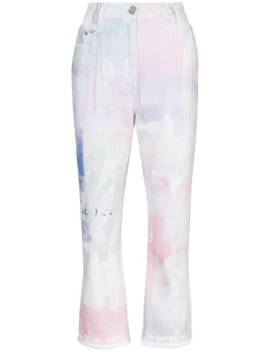 spray-paint-cropped-jeans by balmain