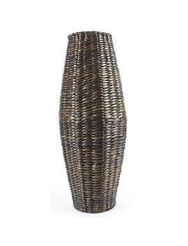 brown-cattail-vase by dunelm