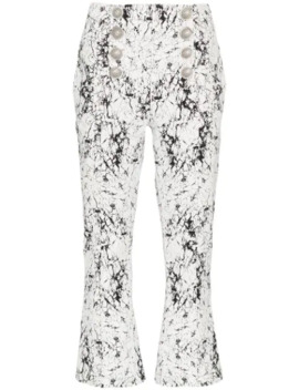 cracked-effect-trousers by balmain