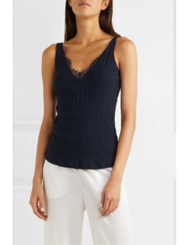 briana-lace-trimmed-ribbed-pima-cotton-jersey-tank by skin