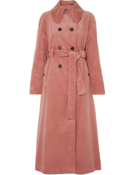 cotton-blend-corduroy-trench-coat by alexachung