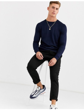 pull&bear-crew-neck-sweater-in-navy by pull&bear