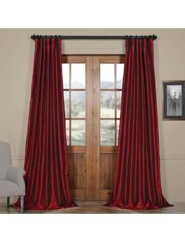 exclusive-fabrics-ruby-vintage-faux-textured-dupioni-silk-50-inch-curtain-panel---84-inches---50-x-84 by exclusive-fabrics