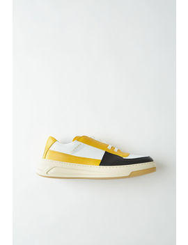 lace-up-sneakers-yellow-multi by acne-studios