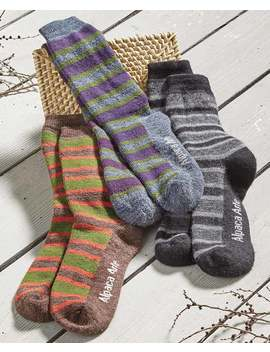Tey Art Handcrafted Peruvian Alpaca Socks by Lakeside Collection