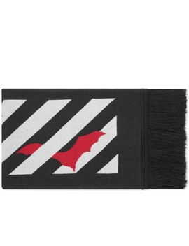 off-white-bats-logo-scarf by off-white