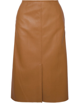 iden-leather-midi-skirt by joseph