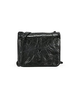niki-leather-wallet-on-chain by saint-laurent