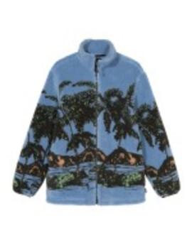 stüssy-hawaiian-jacquard-mock-(blue) by dover-street-market