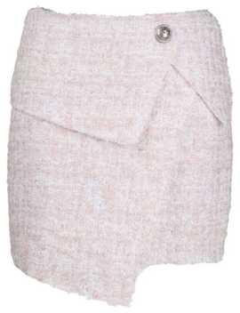 asymmetric-bouclé-skirt by balmain