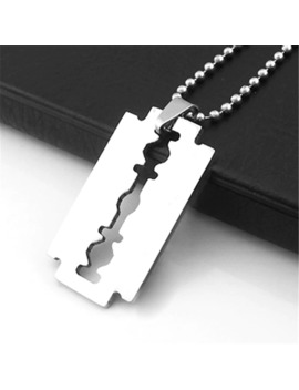 stylish-creative-stainless-steel-razor-design-pendant-necklaces-for-men-silver-shaver-blade-steel-titanium-chain-couples-jewelry by aliexpresscom