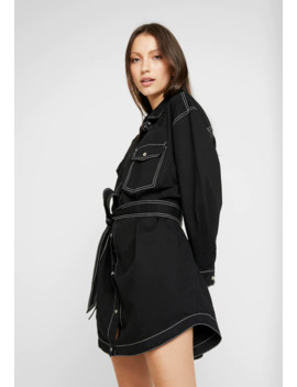 belted-contrast-stitch---abito-a-camicia by missguided