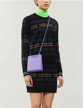 branded-wool-blend-miniskirt by kenzo