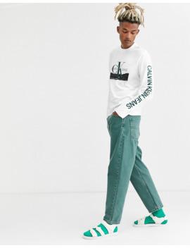 calvin-klein-jeans-landscape-print-long-sleeve-t-shirt-in-white by calvin-klein