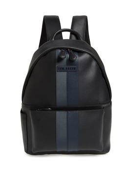 stripe-faux-leather-backpack by ted-baker-london