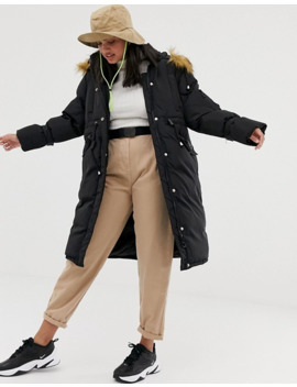 qed-london-oversized-padded-parka-with-hood by asos