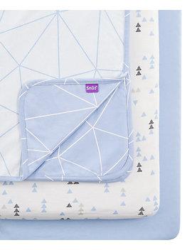 snüzpod-3-piece-crib-bedding-set-–-geo-breeze by mothercare