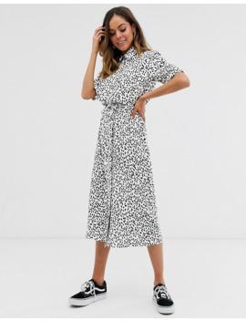 vestido-camisero-midi-con-estampado-de-lunares-de-new-look by new-look