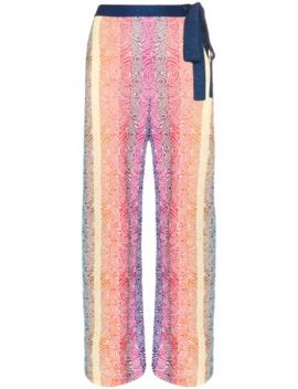 rego-striped-knit-wide-leg-trousers by mary-katrantzou