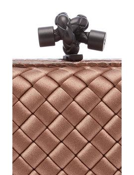 satin-intrecciato-knot-clutch by bottega-veneta
