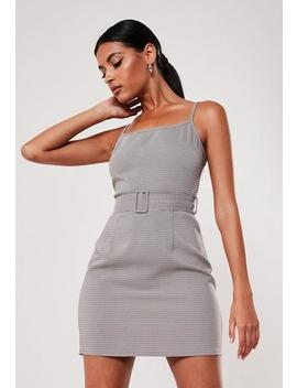 micro-check-belted-mini-cami-dress by missguided