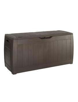 Keter Keter Hollywood Garden Plastic Storage Box 270 L   Brown by Homebase
