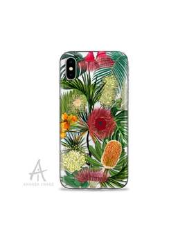tropical-australian-native-plants-clear-case-for-iphone,-samsung-and-huawei-128 by etsy