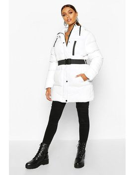 belted-longline-puffer by boohoo
