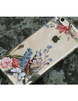 vintage-flowers-and-birds-clear-case-for-iphone,-samsung-galaxy-and-huawei--163 by etsy