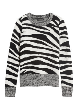 petite-zebra-print-wool-blend-sweater by banana-repbulic
