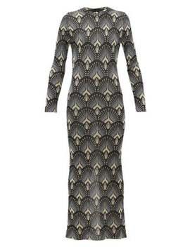 geometric-metallic-jacquard-maxi-dress by paco-rabanne