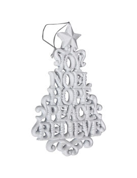 """""""joy_noel_hope_peace_believe""""-white-resin-tree-ornament,-65""""""""joy_noel_hope_peace_believe""""-white-resin-tree-ornament,-65"""" by at-home"""
