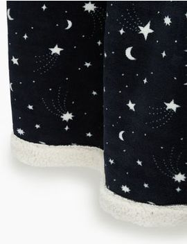 fleece-shooting-star-print-throw by marks-&-spencer