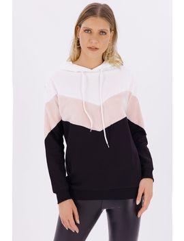 multi-chevron-fur-hoodie by select