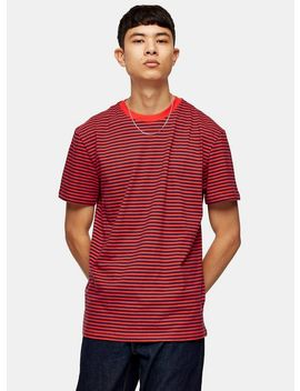 tommy-jeans-red-classic-stripe-t-shirt by topman