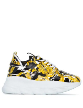 chain-reaction-2-baroque-print-sneakers by versace