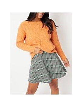 grey-jacquard-check-skirt by asda