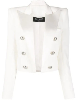 structured-cropped-jacket by balmain