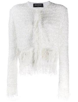 tweed-fringed-jacket by balmain