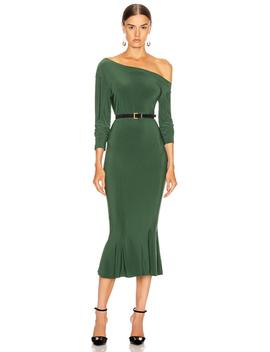 long-sleeve-drop-shoulder-fishtail-dress by norma-kamali