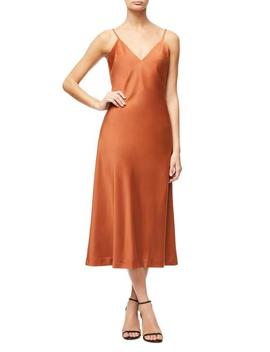 The Satin Midi Dress                 by Good American