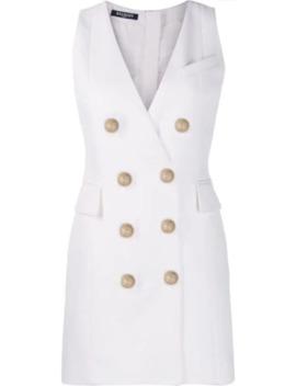 double-breasted-waistcoat-dress by balmain