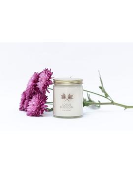 lotus-blossom-soy-candle-jar---9-oz---all-natural,-eco-friendly-100%-soy-wax-candle by etsy
