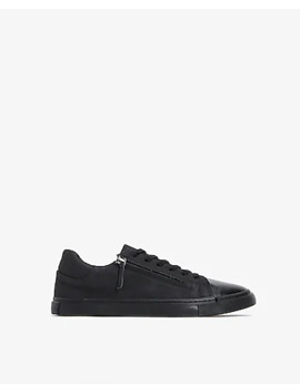 faux-leather-side-zip-low-top-sneakers by express