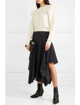 ruffled-crochet-trimmed-cotton-sweater by stella-mccartney