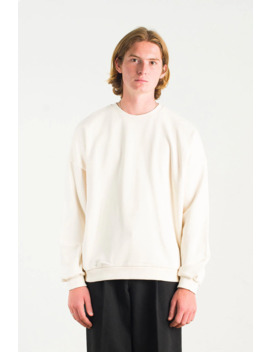 Menswear | Loopback Sweatshirt, Ivory by Olive