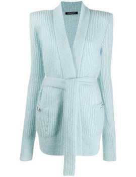 belted-longline-cardigan by balmain