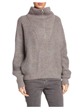 myclan-zip-front-turtleneck-sweater by etoile-isabel-marant